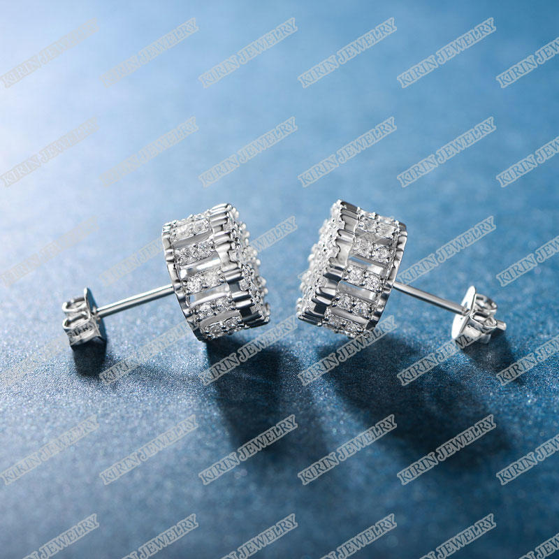 Kirin opal sterling silver cubic zirconia earrings company for female-1