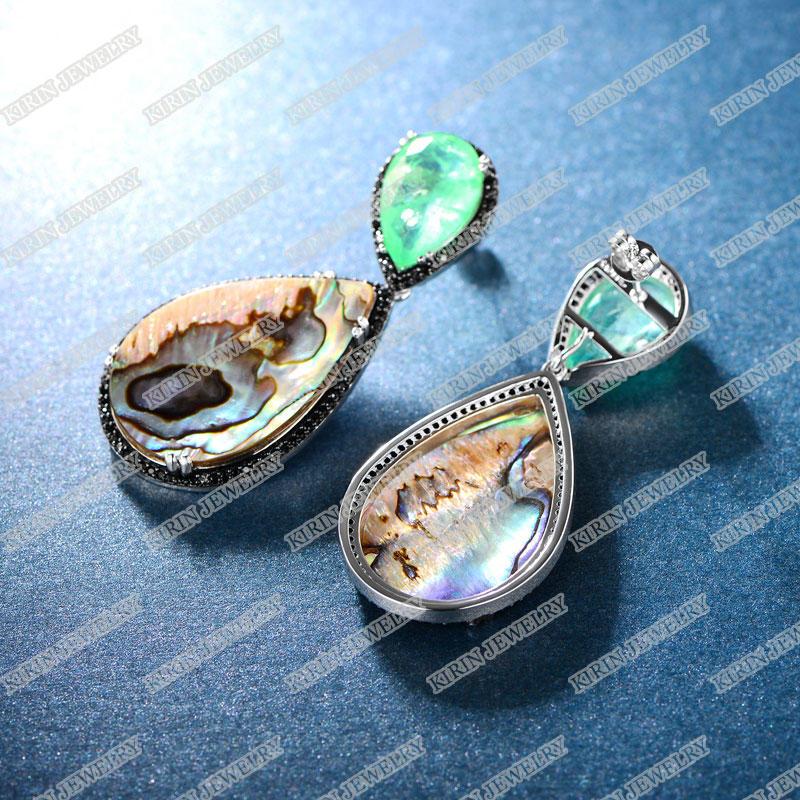 925 sterling silver drop earrings 86851E