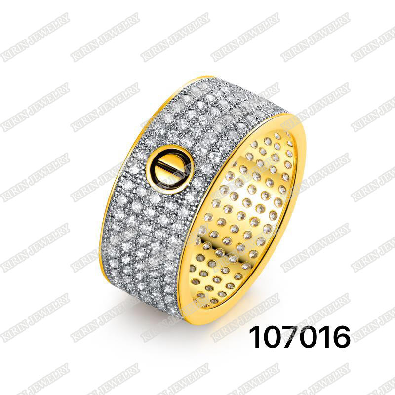 925 sterling silver gold plating ring for men 107016