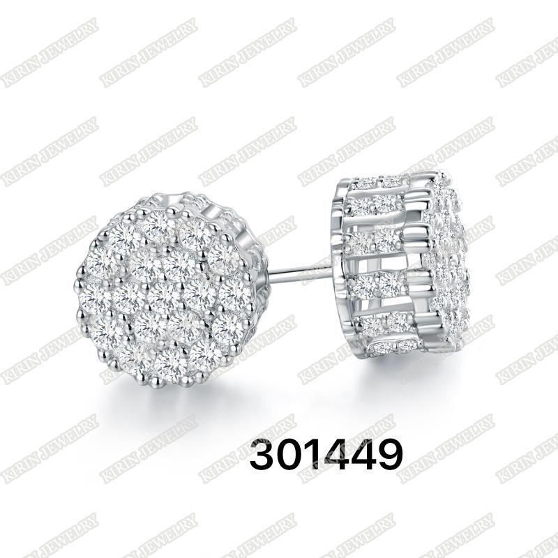 925 sterling silver stud earrings with cubic zircon 301449-