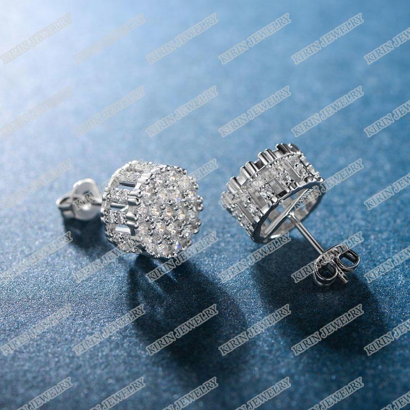 925 sterling silver stud earrings with cubic zircon 301449-