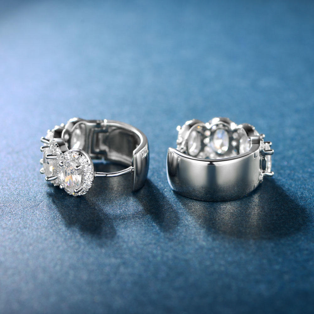 Hoop Earrings with Cubic Zircon 301451