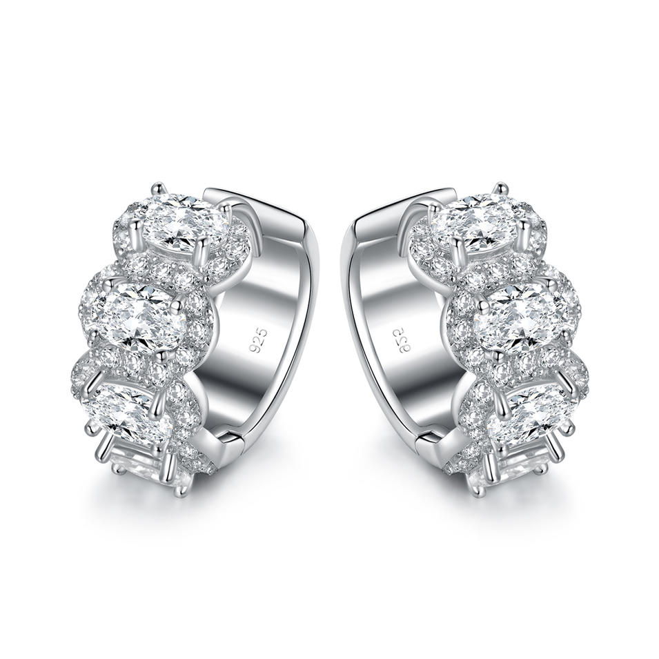 Hoop Earrings with Cubic Zircon 301451