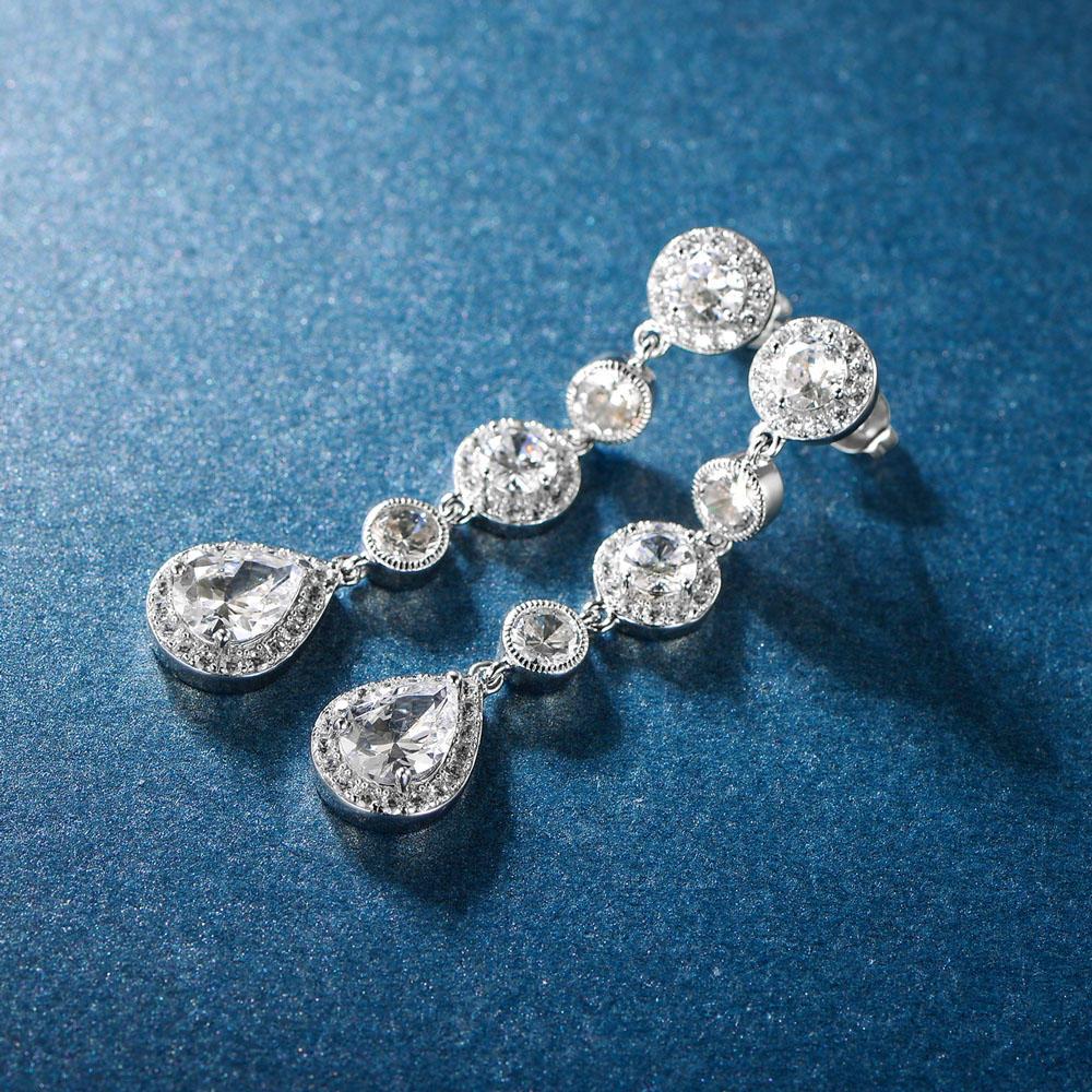 Drop Earrings 925 Sterling Silver Earrings 301452