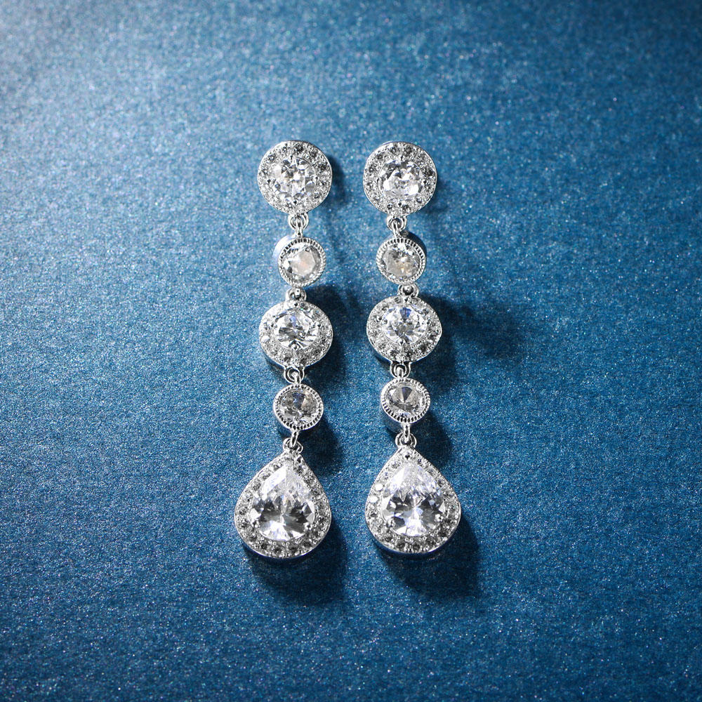 Drop Earrings 925 Sterling Silver Earrings 301452