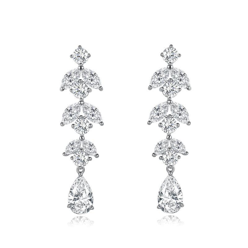 Drop 925 Sterling Silver Earrings Fine Jewelry For Women 301453