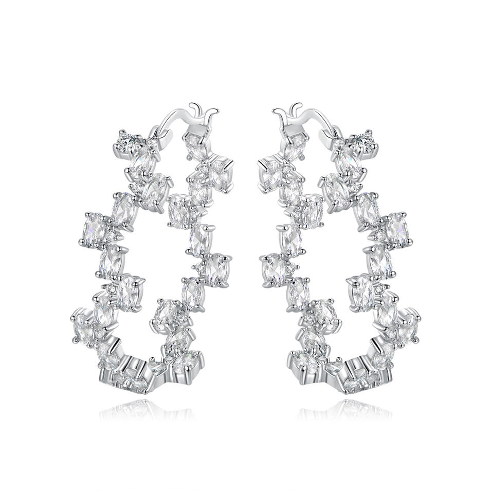 Hoop Earrings 925 Sterling Silver Jewelry 300014