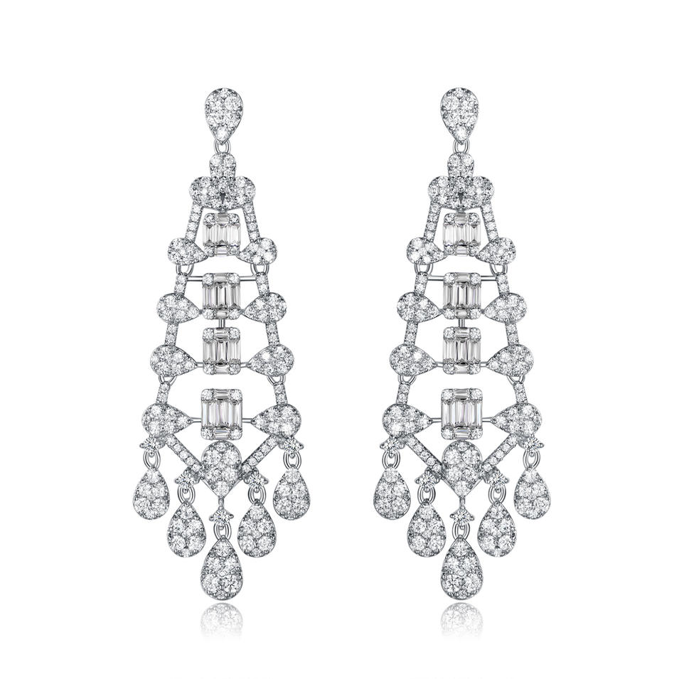 Baguette Drop Earrings for Women 300415