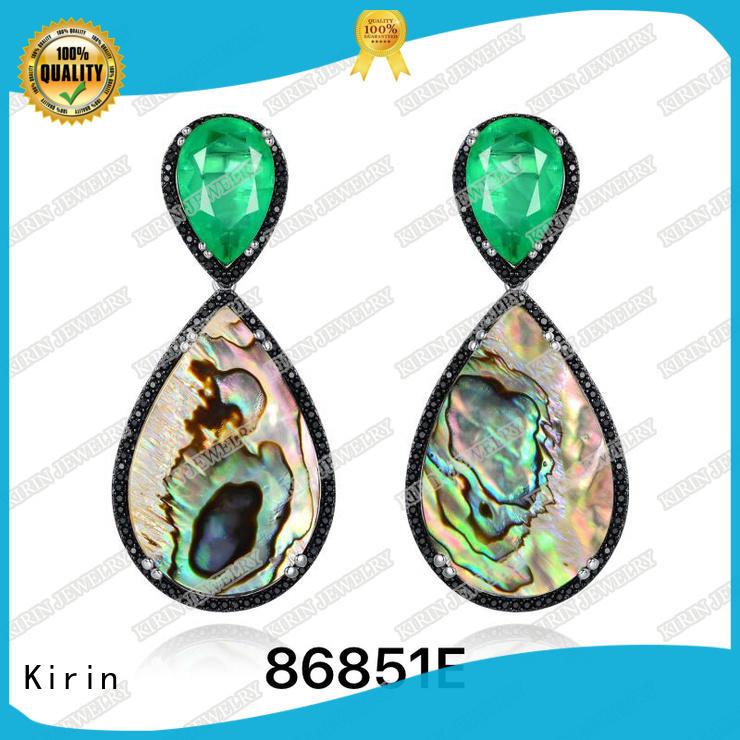 Kirin sterling sterling earrings factory price for girl