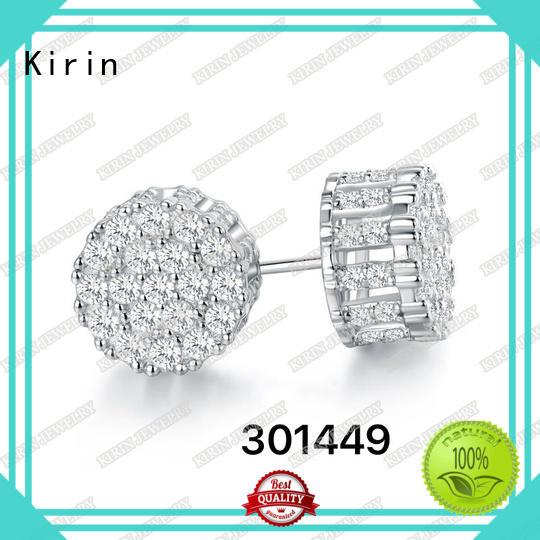 Kirin opal sterling silver cubic zirconia earrings company for female