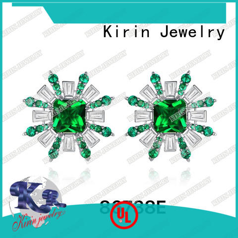 Kirin blue sterling earrings with cheap price for female