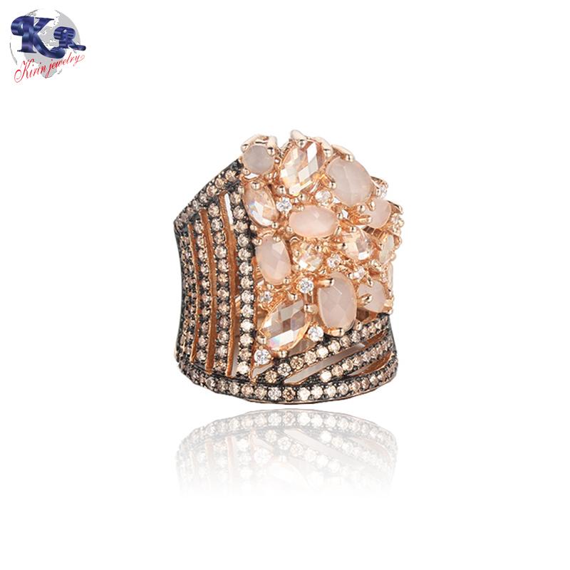 Kirin Jewelry -Classic Luxury Ring For Women Colorful Aaa Cubic Zircon Kirin-1