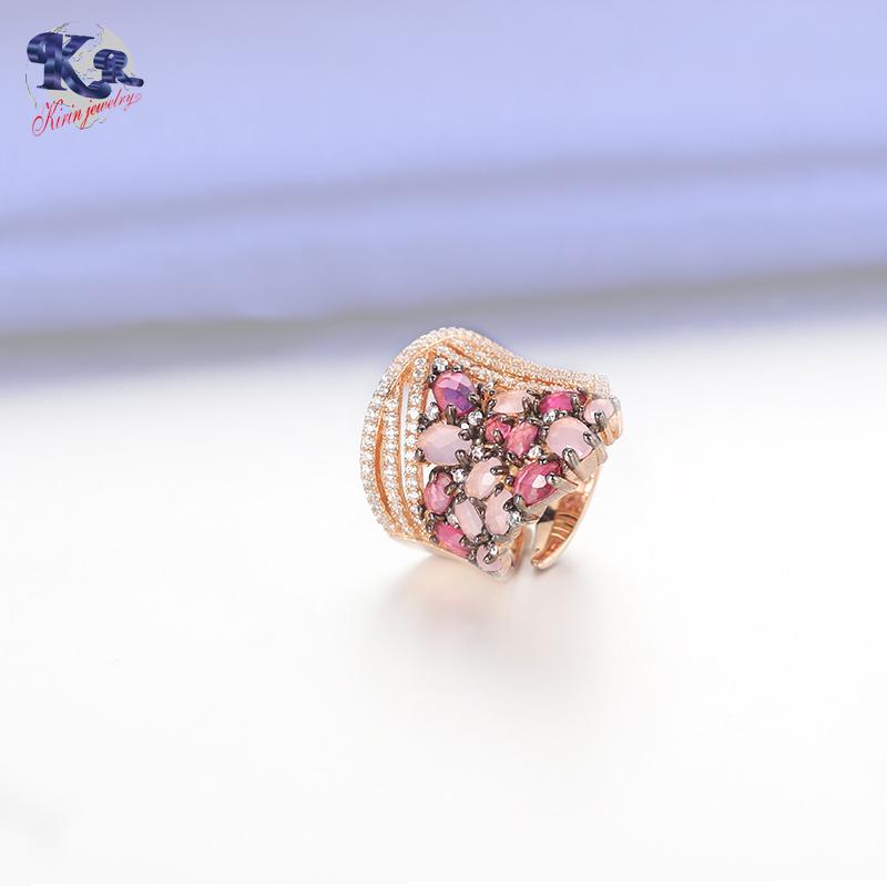 Kirin Jewelry -Classic Luxury Ring For Women Colorful Aaa Cubic Zircon Kirin-2