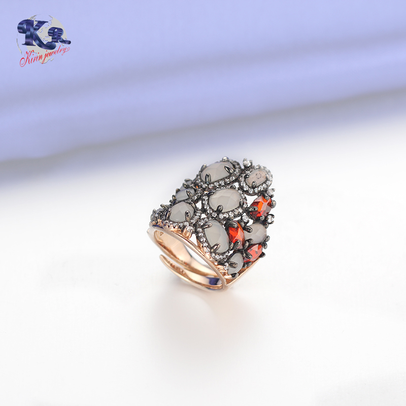 Kirin Jewelry -Find Best Silver Rings Unique Design Jewelry Mona Lisa Ring-3