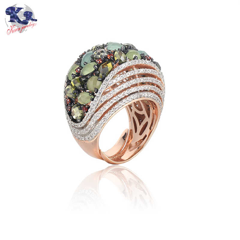 Kirin Jewelry -925 Sterling Silver Ring Rose Gold Color For Women Kirin Jewelry