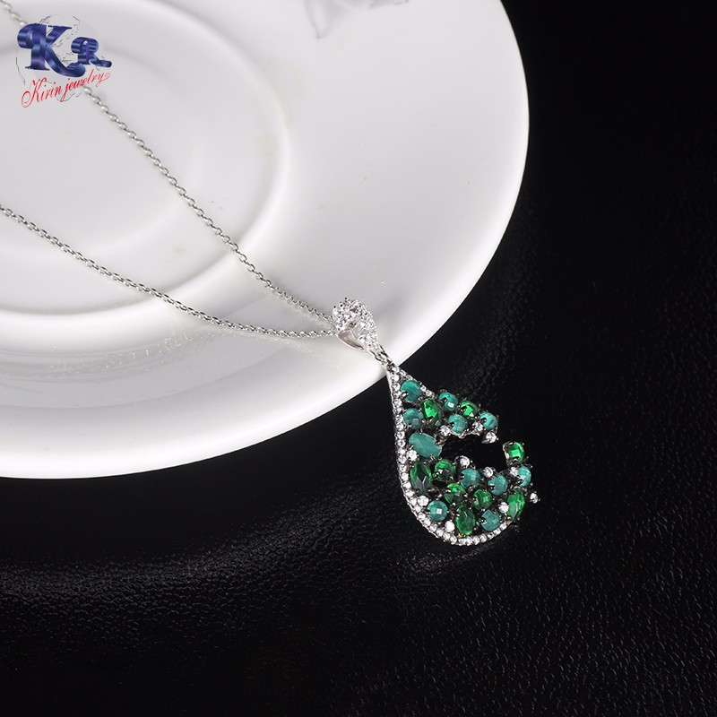 Kirin Jewelry -Find Diamond Necklace And Earring Set Sterling Silver Gift Sets-2