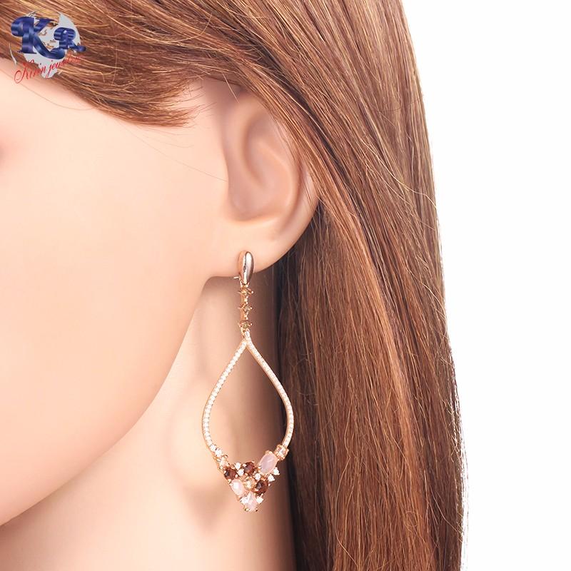 Kirin Jewelry -Rose Gold Earrings | Kirin 925 Sterling Silver Luxury Earrings-1
