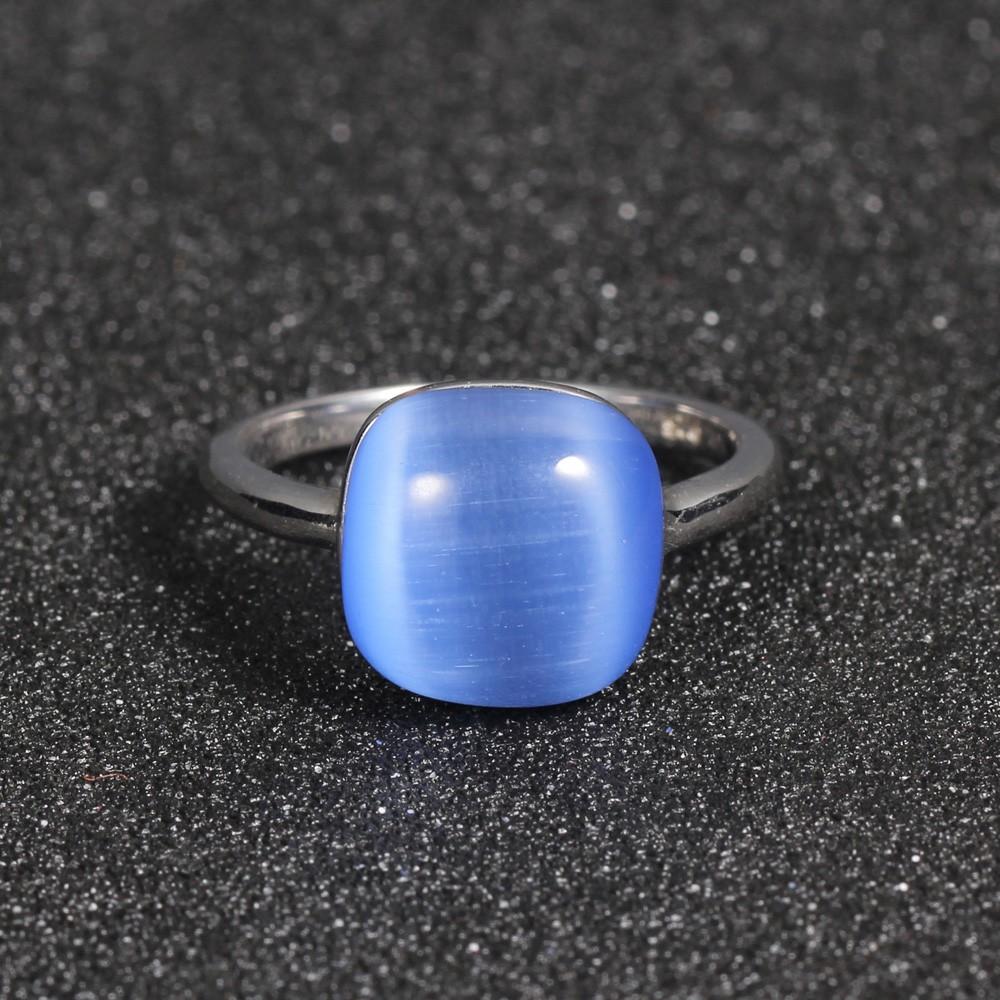 Kirin Jewelry -Best Sterling Silver Jewlry 925 Silver Jewellery Set Blue Cat Eye-1
