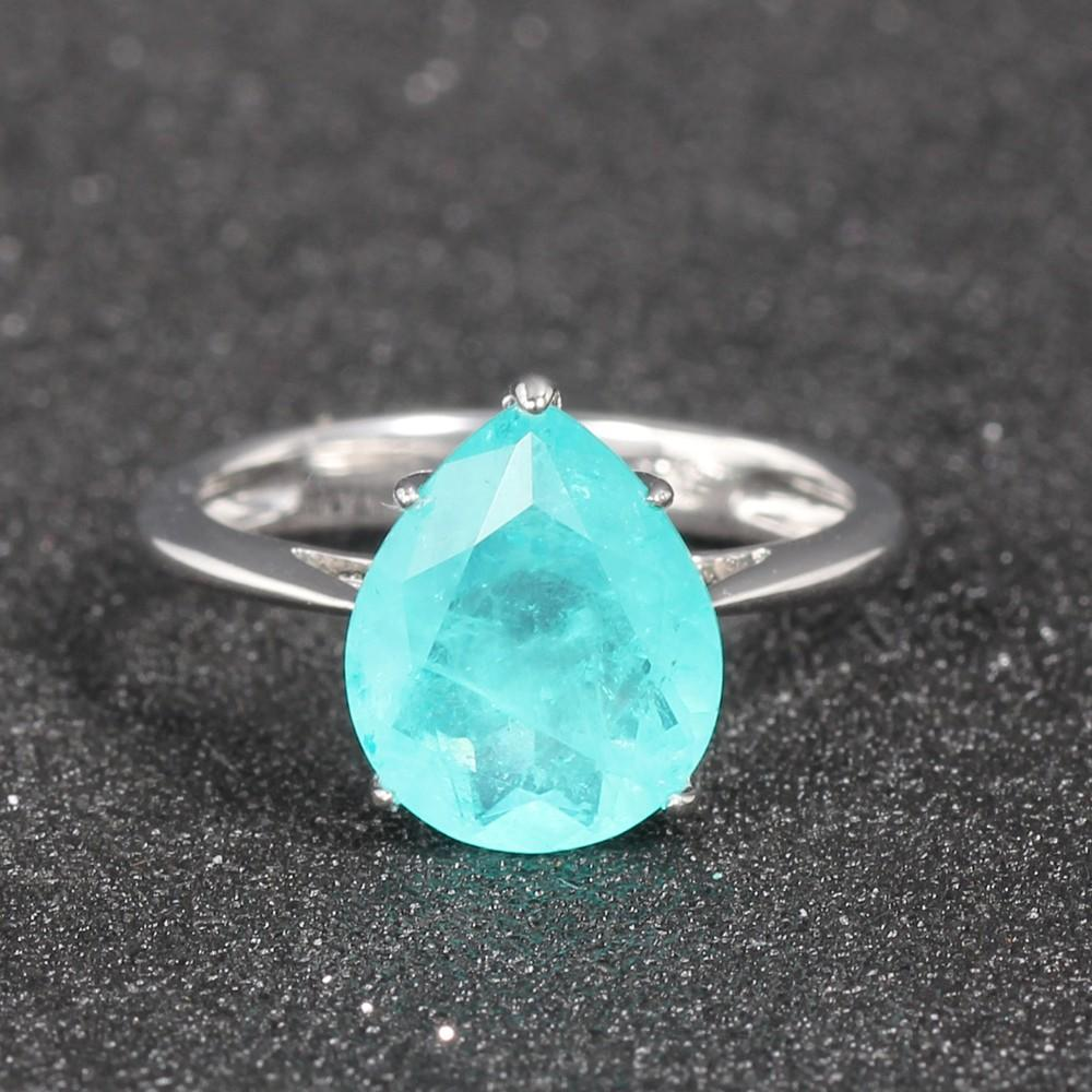 appealing sterling silver cubic zirconia rings baguettecut at discount for lover