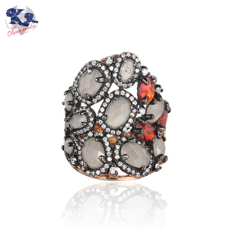 Kirin Jewelry -Find Best Silver Rings Unique Design Jewelry Mona Lisa Ring-1