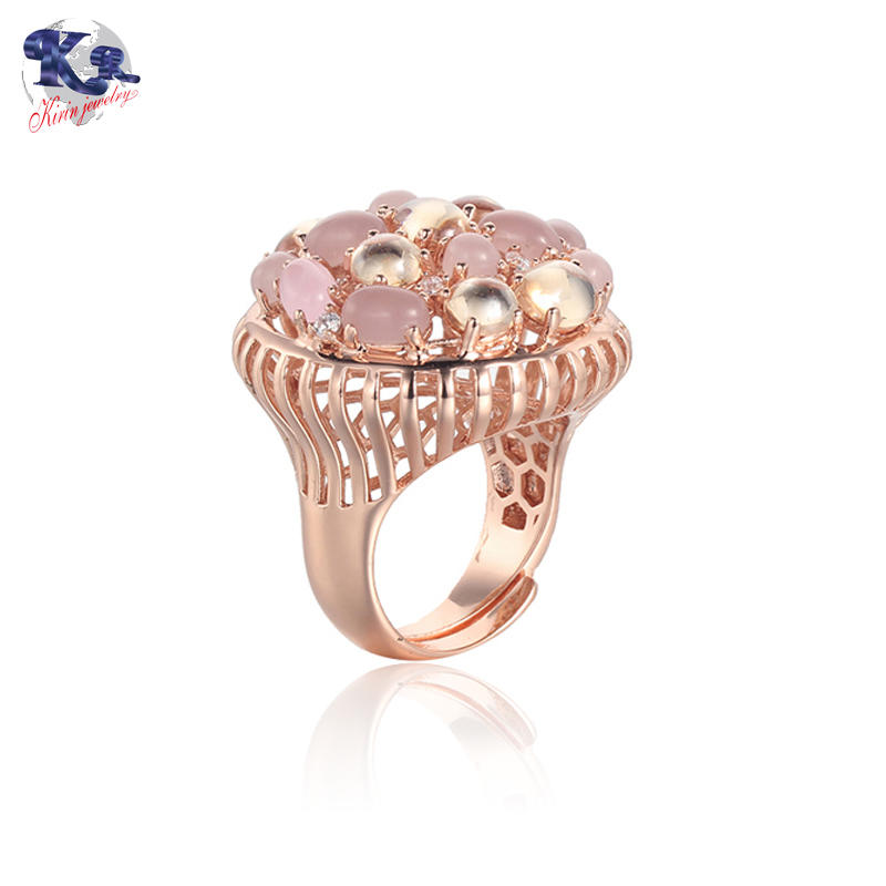 Kirin Jewelry -925 Rose Gold Plated Silver Ring Made With Zirconia Kirin Jewelry 17045