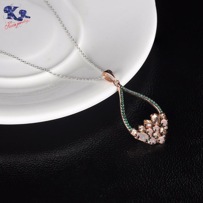 Kirin Jewelry -Find Pink Jewellery Set Sterling Silver Chain Set From Kirin Jewelry-2