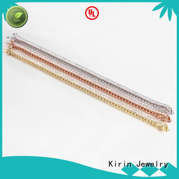 Fashion Cubic Zirconia Link Bracelet Women 925 Sterling Silver Bangles Jewelry Gifts 60011