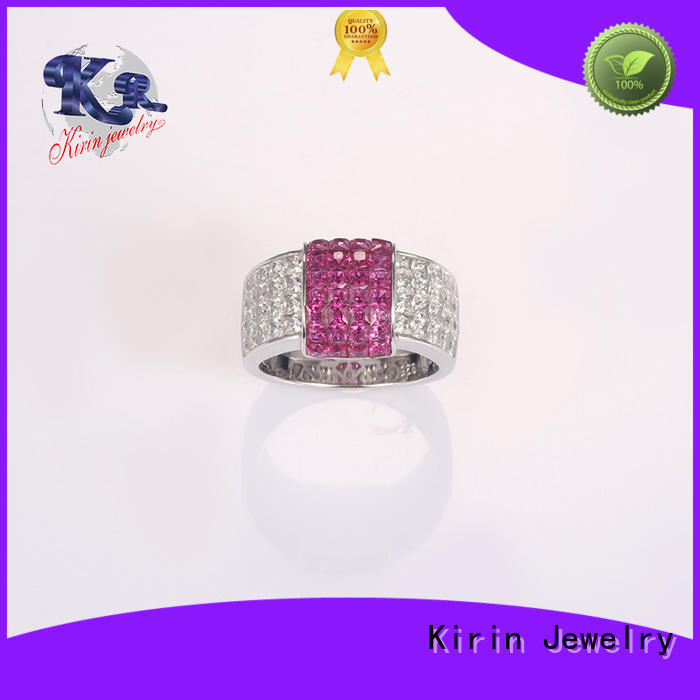 Kirin Jewelry attractive ring silver for women enamel for mate