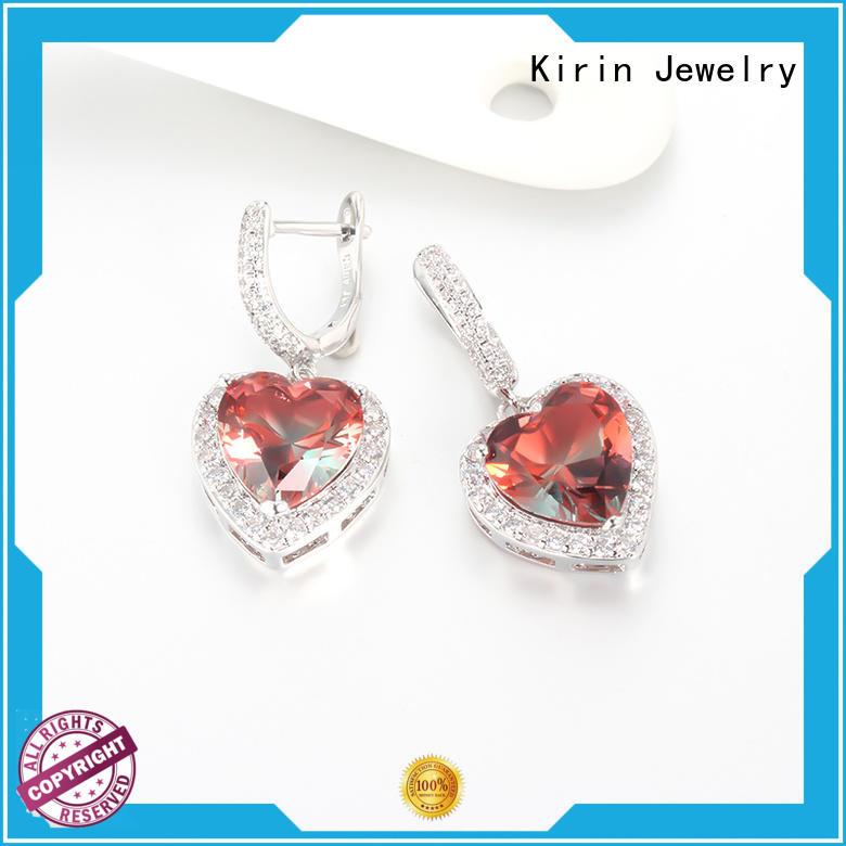 gold jewellery earrings genuine pear girls Kirin Jewelry Brand