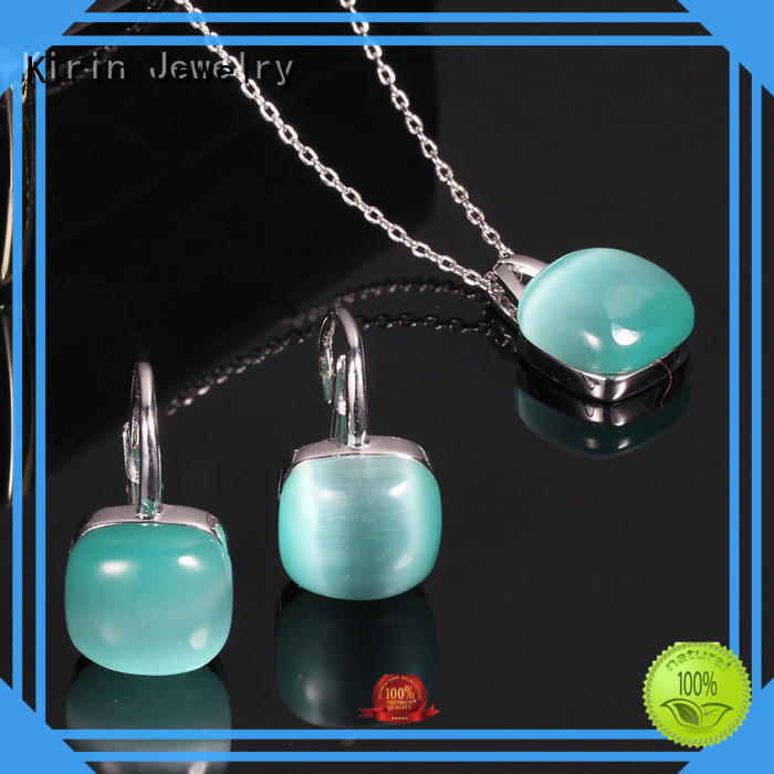 Kirin earringpendant sterling silver necklace and earring set customization for female