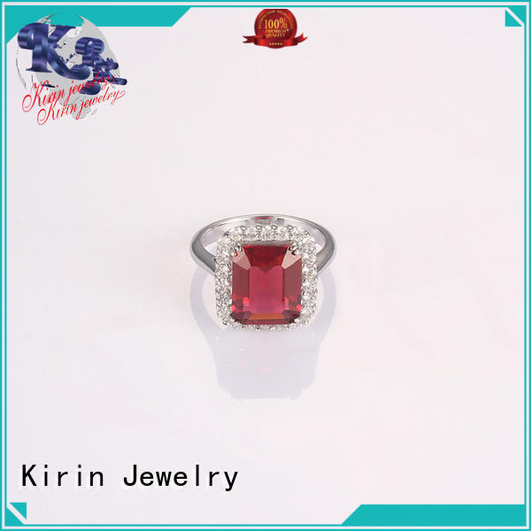 light rose emerald chain 925 sterling silver wedding sets Kirin Jewelry Brand