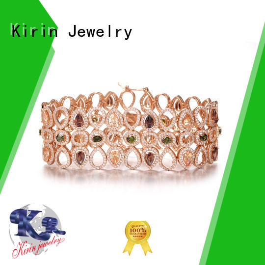 925 silver Mona Lisa Rose Gold Plated Multicolor Cubic Zirconia bangle - Ideal Gift for Women 61709 Kirin Jewelry
