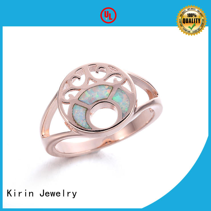 created sterling silver engagement rings from manufacturer for mom Kirin Jewelry
