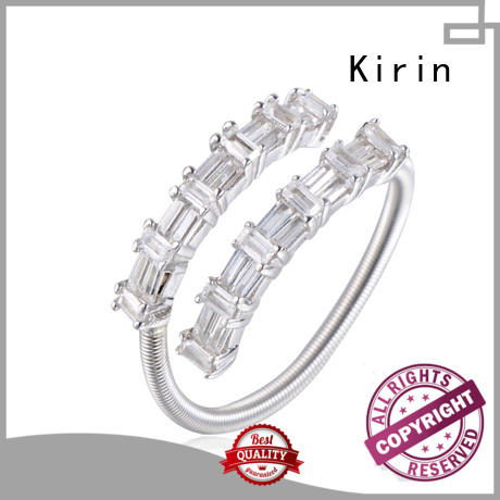 good-package long silver ring promotion customization for mother