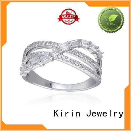 Kirin Jewelry magnificent ladies plain silver ring daily for family