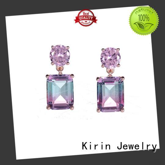 Wholesale Women Genuine 925 Sterling Silver Round Cubic Zirconia CZ Stud Earrings Jewelry 39211