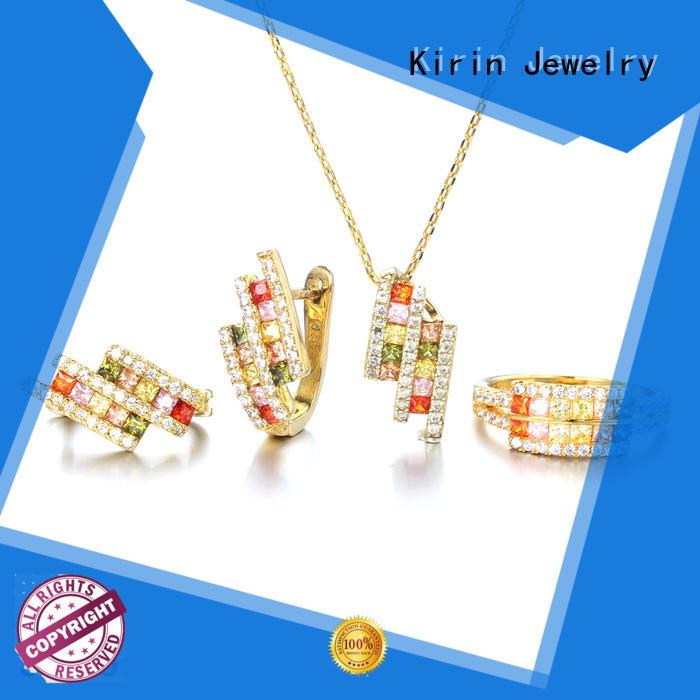 Hot elegance 925 sterling silver jewelry sets jewellery drop Kirin Jewelry Brand
