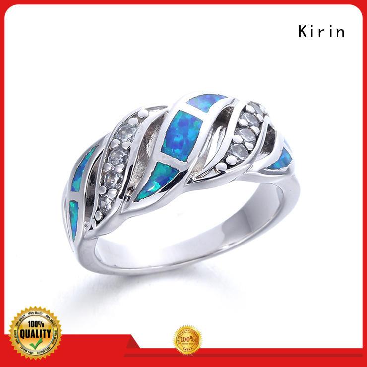 Kirin cz sterling silver cz rings bulk production for lover