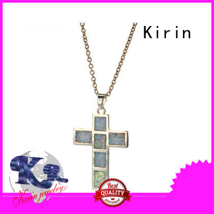 Kirin Top white opal necklace silver marketing for mate