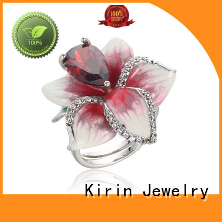 Kirin newly sterling silver heart ring manufacturers