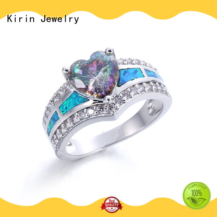 Custom sterling silver love ring bridal Supply for family