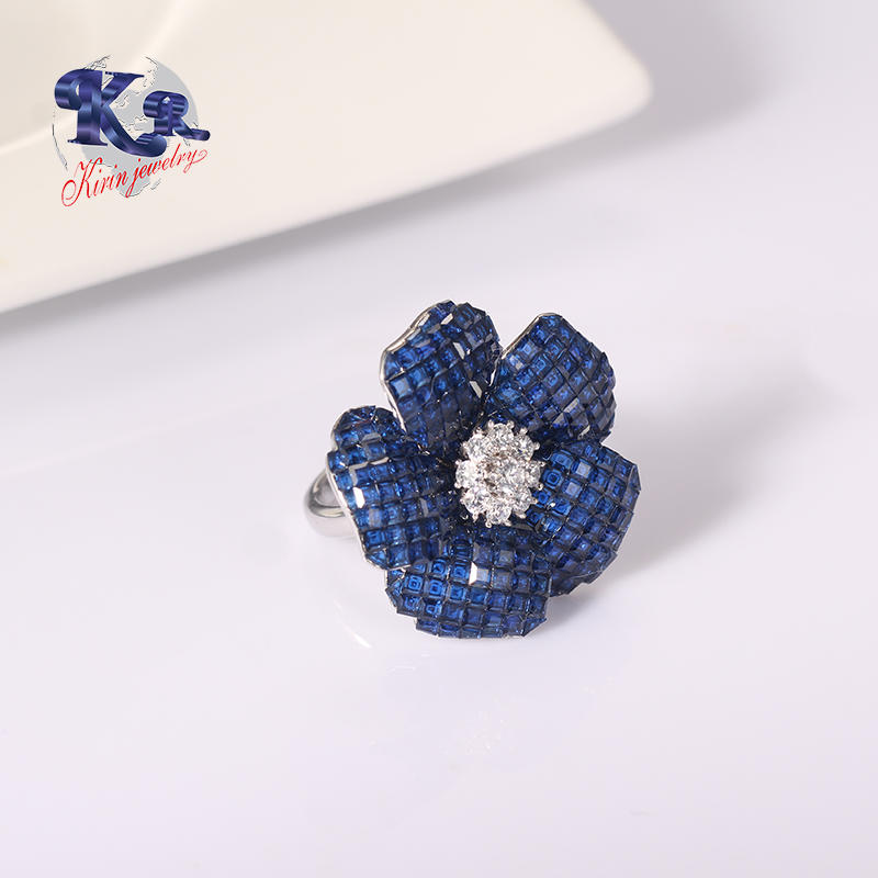 Fashion Trend Flower 925 Sterling Silver Ring