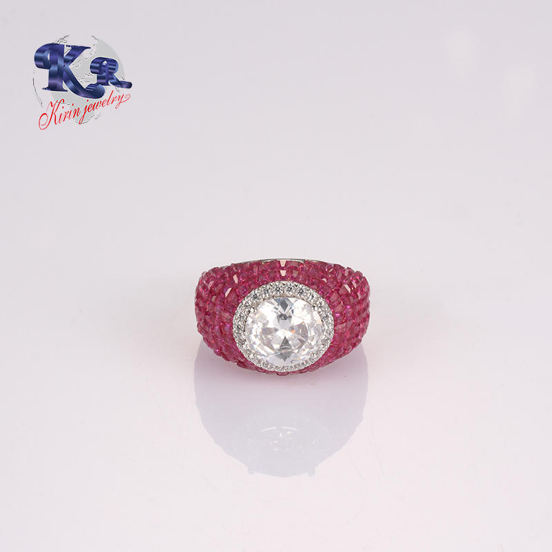 925 Ring Jewelry Type,Color Spinel Stone Charm Jewelry Manufacture China