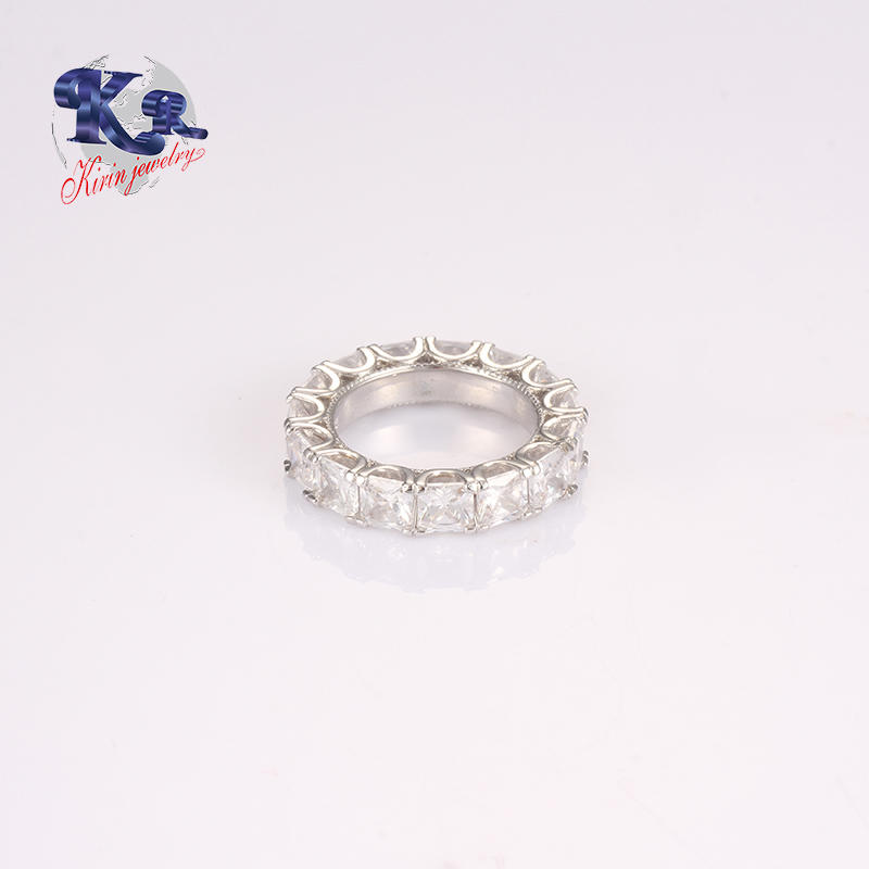 Promotion Pirce All white CZ O Ring Silver 925 jewellry Unisex Gender