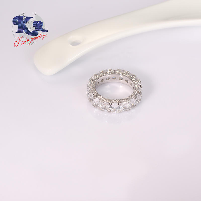 Best Friend chain 925 silver ring In Prong Setting,Laser Your Own Logo