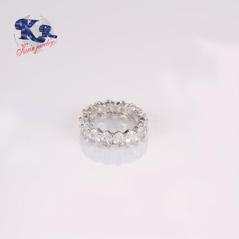 Latest Silver Ring Design In Oval Shape Shiny Jewelrys