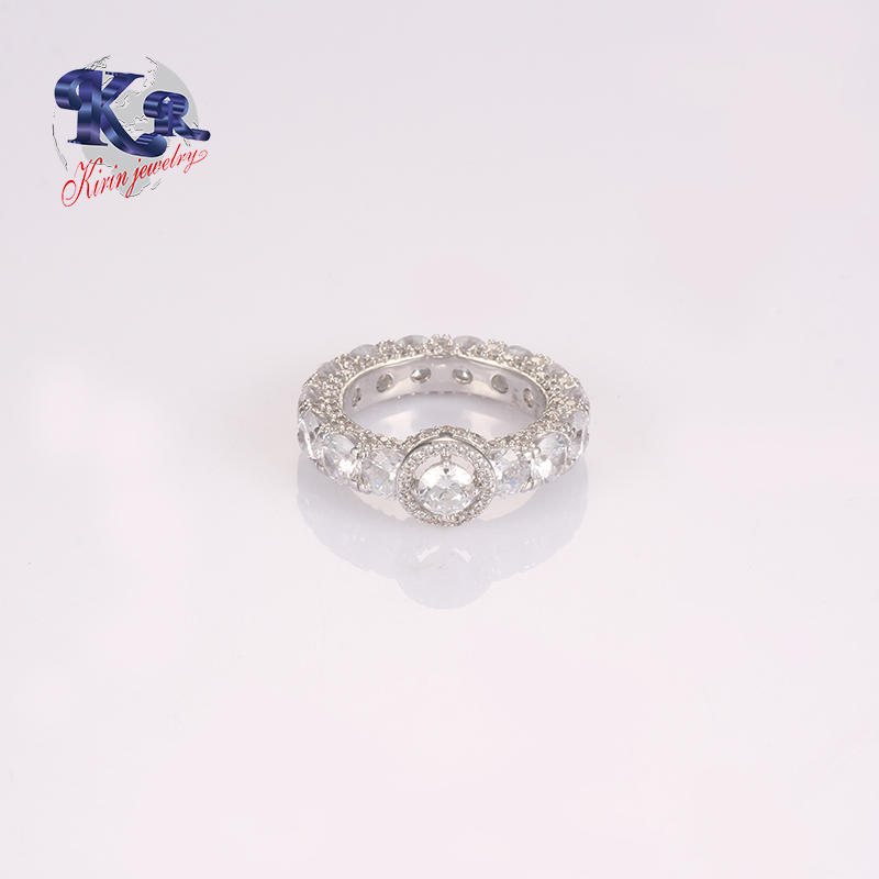 2018 New Creative Zircon 925 Ring In Round Cut Couple Sterling Silver Jewelry
