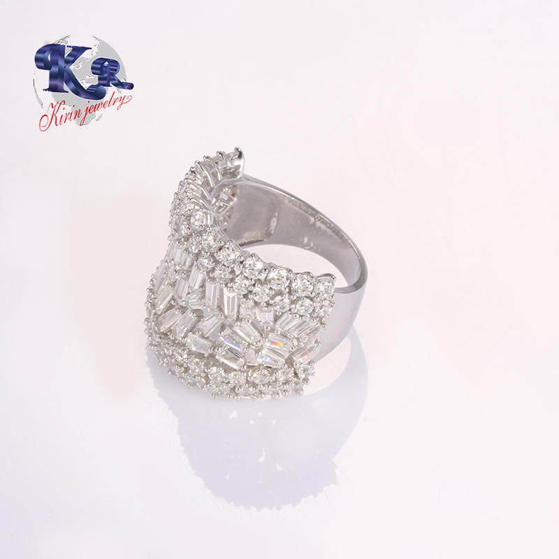 Best Selling CZ Ring,Comfort Fit White Gold Sterling Silver 925 Ring