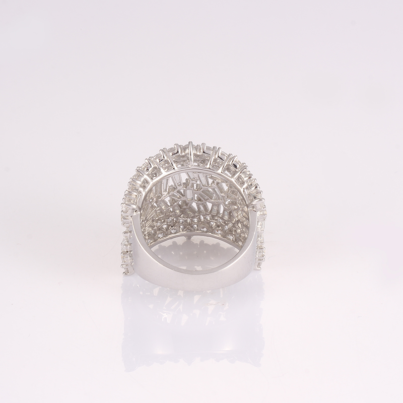 Kirin Jewelry -Best Silver Band Ring Womens Best Selling Cz Ring-1