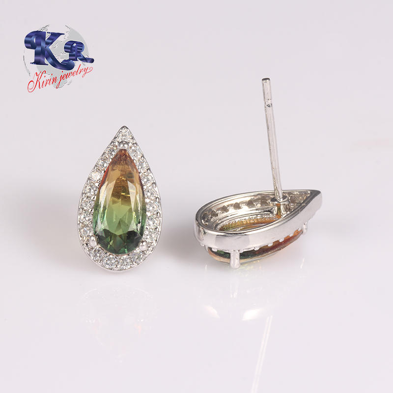 2018 Earring Stud,Cubic Zircon 925 Sterling Silver Earring Jewelry Type